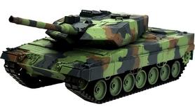 Фото 1 к товару Танк радиоуправляемый Heng Long Leopard II A6 1:16 в металле с пневмопушкой и дымом