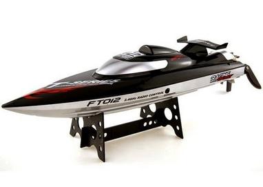 Катер радиоуправляемый Fei Lun FT012 High Speed Boat бесколлекторный черный