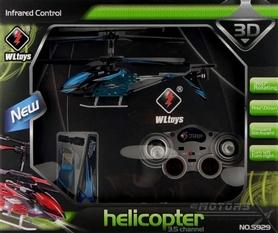 Фото 5 к товару Вертолет на инфракрасном управлении 3-к WL Toys S929 с автопилотом синий