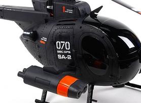 Фото 3 к товару Вертолет радиоуправляемый 4-к Fei Lun MD-500 черный