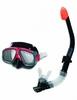 Набор для плавания (маска + трубка) Intex 55949 черный - фото 1
