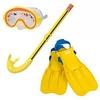 Набор для плавания (маска + трубка + ласты) Intex 55951 желтый - фото 1