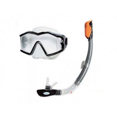 Набор для плавания (маска + трубка) Intex 55961 черный