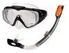 Набор для плавания (маска + трубка) Intex 55962 черный - фото 1