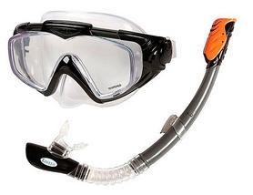 Набор для плавания (маска + трубка) Intex 55962 черный