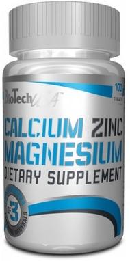 Комплекс минералов BioTech USA Calcium Magnesium Zinc (100 таблеток)