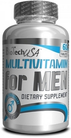 Фото 1 к товару Комплекс витаминов и минералов BioTech USA Multivitamin for Men (60 таблеток) для мужчин