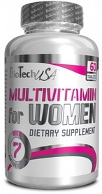 Фото 1 к товару Комплекс витаминов и минералов BioTech USA Multivitamin for Women (60 таблеток) для женщин