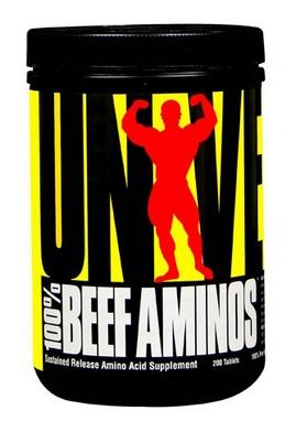 Аминокомплекс Universal Nutrition 100% Beef Aminos (200 таблеток)