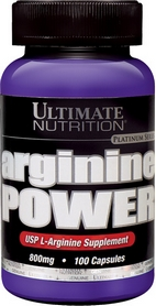 Фото 1 к товару Аминокислоты Ultimate Nutrition Arginine power (100 капсул)