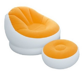 Кресло надувное Intex 68572 (110х109х71 см) оранжевое