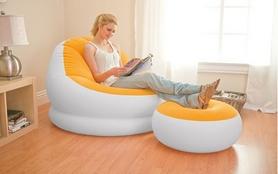Фото 2 к товару Кресло надувное Intex 68572 (110х109х71 см) оранжевое