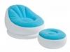 Кресло надувное Intex 68572 (110х109х71 см) голубое - фото 1