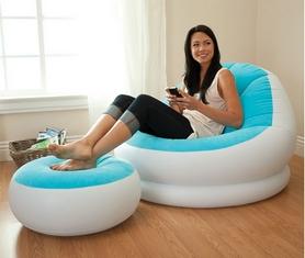 Фото 2 к товару Кресло надувное Intex 68572 (110х109х71 см) голубое