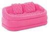 Диван надувной с подушками Intex 68573 (157х86х59 см) розовый - фото 1