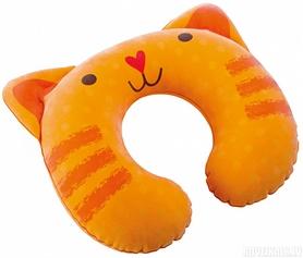 Подушка-подголовник надувная детская Intex 68678 (30х28х8 см) оранжевая