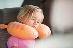 Фото 2 к товару Подушка-подголовник надувная детская Intex 68678 (30х28х8 см) оранжевая