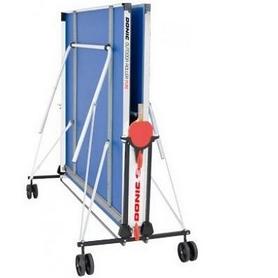 Фото 2 к товару Стол теннисный складной всепогодный Donic Outdoor Roller Fun blue