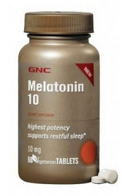 Фото 1 к товару Комплекс витаминов Form Labs GNC Melatonin 10 (60 капсул)