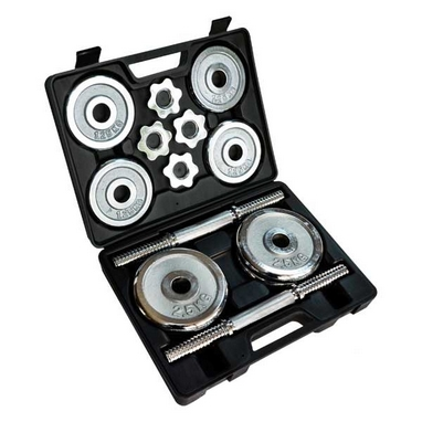 Гантели наборные хромированные в коробке Stein Home Dumbbell Chrome Set Box 20 кг