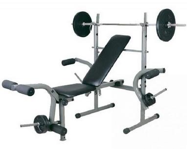 Скамья атлетическая + стойка под штангу Let's Go Fitness Products