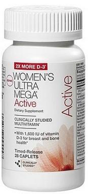 Комплекс витаминов и минералов GNC Women's Ultra Mega Active (28 капсул)