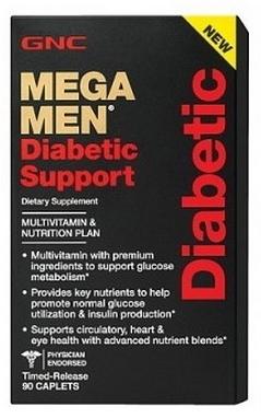Комплекс витаминов и минералов GNC Mega Men Diabetic Support (90 капсул)