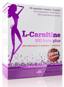 Жиросжигатель Olimp Nutrition L-Carnitine 500 forte plus (60 капсул)