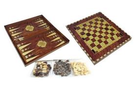 Фото 1 к товару Набор настольных игр 3 в 1 (шахматы, шашки , нарды) W5001D