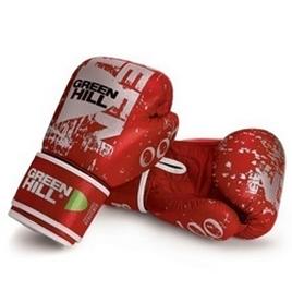 Перчатки боксерские Green Hill 007 красные