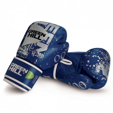 Перчатки боксерские Green Hill 007 синие