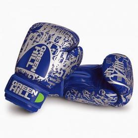 Фото 1 к товару Перчатки боксерские Green Hill G12 синие