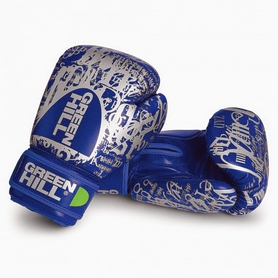 Перчатки боксерские Green Hill G12 синие