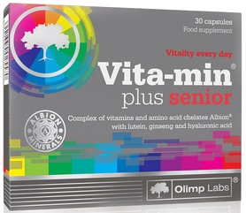 Фото 1 к товару Комплекс витаминов и минералов Olimp Nutrition Vita-min plus senior (30 капсул)