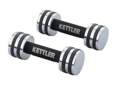 Гантели для фитнеса хромированные Kettler 2 шт по 4 кг