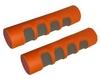 Гантели для фитнеса неопреновые ZLT 2 x 0,5 кг оранжевые + подарок - фото 1