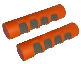 Фото 1 к товару Гантели для фитнеса неопреновые ZLT 2 x 0,5 кг оранжевые
