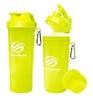 Шейкер 2-х камерный SmartShake Slim 500 мл neon yellow - фото 1