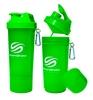 Шейкер 2-х камерный SmartShake Slim 500 мл neon green - фото 1