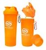 Шейкер 2-х камерный SmartShake Slim 500 мл neon orange - фото 1