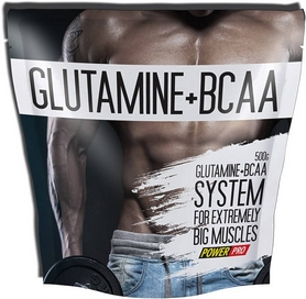 Фото 1 к товару Аминокомплекс Power Pro Glutamine + BCAA (500 г)