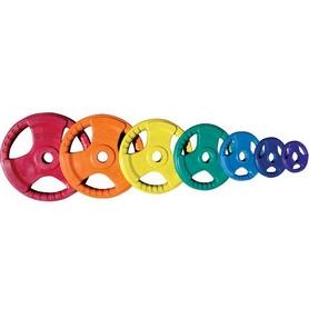 Фото 1 к товару Диск обрезиненный олимпийский 20 кг Inter Atletika цветной с хватами - 51 мм