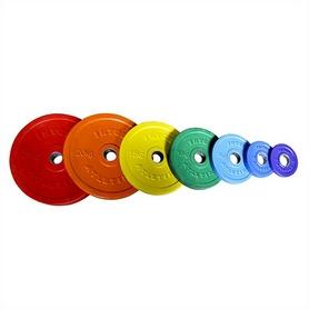 Диск обрезиненный олимпийский 15 кг Inter Atletika цветной - 51 мм