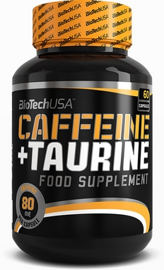 Энергетик BioTech Caffeine+Taurine (60 капсул)