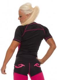 Фото 2 к товару Рашгард женский Bad Boy Ladies Sphere Top Short Sleeve black/pink
