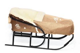 Комплект матрасик на санки и чехол на ножки PUPSik бежевый