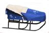 Комплект матрасик на санки и чехол на ножки PUPSik синий - фото 1