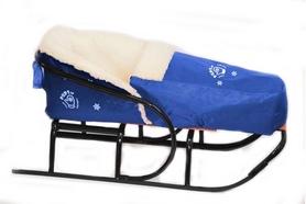 Комплект матрасик на санки и чехол на ножки PUPSik синий
