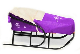 Фото 4 к товару Комплект матрасик на санки и чехол на ножки PUPSik фиолетовый