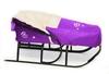 Комплект матрасик на санки и чехол на ножки PUPSik фиолетовый - фото 4